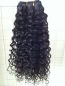 Human Hair Direct 100% Brazilian Remy Human Hair Extensions CURLY 3-Pack (41cm , 46cm , 50cm ) Bundle, 300g Total (100g each), Grade AAAAA