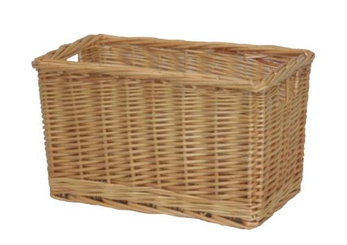 buff willow wicker storage shelf basket free shipping. Black Bedroom Furniture Sets. Home Design Ideas