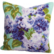 Lilas Double Pillow Cross Stitch Kit-38cm - 1.9cm x 40cm
