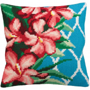 Hibiscus Chunky Cross Stitch Cushion Front Kit
