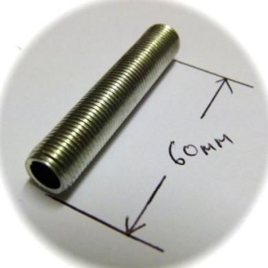 5 x m10 60mm long threaded nipple tube in pre cut. Black Bedroom Furniture Sets. Home Design Ideas