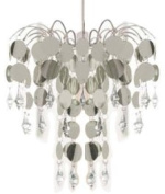 Beam Feature Chic Chandelier, Silver