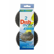 3 Packs of 2 Dishmatic Steel Scourer Refill Heads for cleaning BBQ's, Hot Plates, Steel Pots & Pans