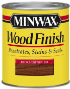 Minwax 22320 1/2 Pint Wood Finish Interior Wood Stain, Red Chestnut