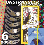 6-Pack UNSTRANGLER Collar Extender/Expander Buttons. Add 1/2 Inch (1.5 cm) Extra Comfort To All Shirt Collars When Wearing A Tie. A True Wonder.