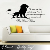 The Lion King Inspirational Wall Sticker Quote Kids Bedroom Playroom Home  Mural 100x55