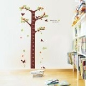 Measuring height tree kids room removable quote vinyl wall decals stickers XY1016