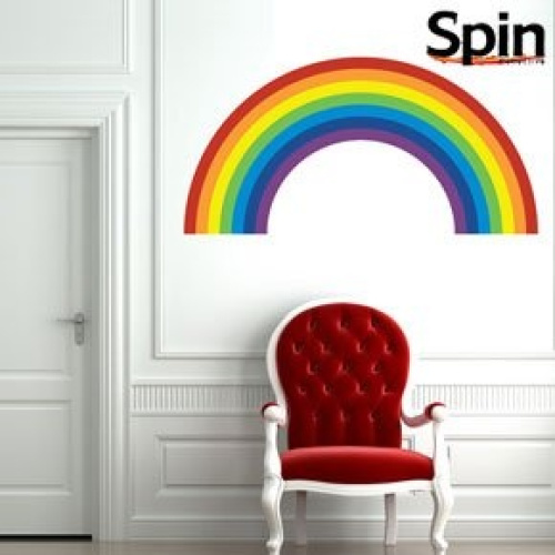 rainbow wall sticker large free delivery ebay