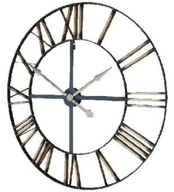 Extra Large Skeleton Frame Wall Clock With Roman Numerals