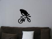 Big BMX wall sticker decal boys bedroom wall art
