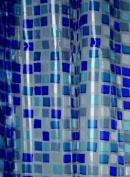 Blue Canyon PVC Shower Curtain Mosaic Design, Blue