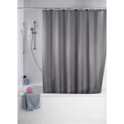 SHOWER CURTAINS WITH RINGS - French Grey colour, Size approx.180 cm. x 180 cm.