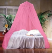 Direct-Home® Pink Mosquito Net Bed Canopy Polyester 10 Metre x 2.5 Metre Insect Protection