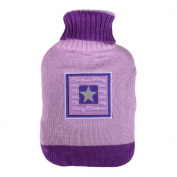 Thermotherapy Hot Water Bottle Lilac & Purple Sweater Style Cover Christmas Star