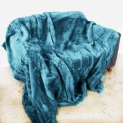 Teal Mink Throw Luxury Soft Plush Large (150cm x 200cm- Suitable for Double Size Bed or 2 Seater Sofa) Sofa Bed Runner Bedspread Blanket by Quality Linen and Towels