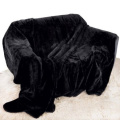 Black Mink Throw Luxury Soft Plush Large (150cm x 200cm- Suitable for Double Size Bed or 2 Seater Sofa) Sofa Bed Runner Bedspread Blanket by Quality Linen and Towels
