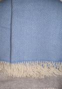 Tweedmill Blue Fishbone Blanket