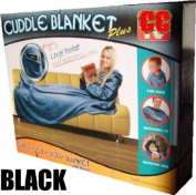 CUDDLE BLANKET WITH SLEEVES BLACK
