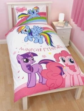 Childrens/Kids My Little Pony Quilt/Duvet Cover Bedding Set ...