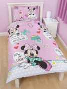 Minnie Mouse Makeover Duvet Cover Set Single
