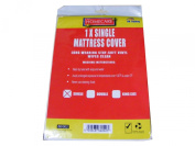 Single Vinyl Plastic Fitted Mattress Bed Cover Sheet Protector
