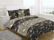 Children's Kids DOUBLE BED SIZE CAMOUFLAGE DESIGN DUVET COVER AND PILLOWCASE SET By Viceroybedding