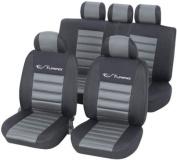 Unitec 'Tuning' 84954 Car Seat Cover Set Silver-Grey