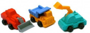 3 Truck Erasers in a Box