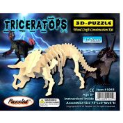Triceratops Dinosaur 3D Woodcraft Construction Kit