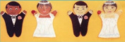 Dexter Educational Toys DEX690B Bride and Groom 2-piece Puppet Set - African American
