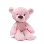 GUND 35.5cm Lil Fuzzy Pink Bear Soft Toy for Newborn