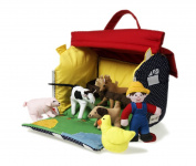 Oskar and Ellen Fabric Farmyard Playset