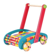 Janod Abc Buggy Wooden Baby Walker