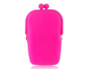 Stylish Kiss Lock Closure Silicone Cosmetic Purse