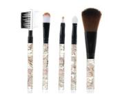 5 pcs Acrylic Flower Printing Handle Make-up Brush Set