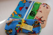 Easy Peasy Fleece Nappy Liners Pk 10 Mixed Boy Prints