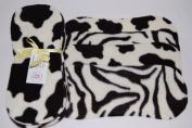 Easy Peasy Fleece Nappy Liners Pk 10 Black & White Animal Prints