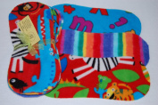 Easy Peasy Fleece Nappy Liners Pk 10 Mixed Unisex Prints