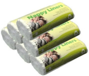 6x rolls of 100 Dudeybaba flushable paper nappy liners for reusable/cloth nappy