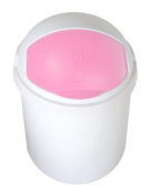 Vital Baby 07000 06 Nappy Bin Pink / White