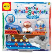 Cuckoo Alex Rub-a-Dub Pirate Squirters Bath Toy
