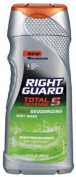Right Guard Total Defence 13cm 1 Deodorising Hair & Body Wash, Refreshing with Electrolytes