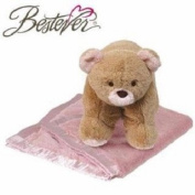 Bestever Snugga Pet - Pink Bear Blanket and Pillow