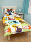 ZINGZILLAS KIDS BOYS REVERSIBLE SINGLE BED DUVET QUILT COVER BEDDING SET - NEW