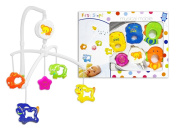 First Steps Musical Mobile for Baby Cot Suitable From Newborn 0+ Fun Animals With Flower Bright Colours