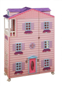 Teamson Kids Childrens Wooden New York Mansion Dolls House Kids Toy Barbie Bratz Monster High 9959A