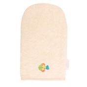 100% Cotton Wash Glove Hand Mitten Flannel -- Cream -- 0 m+