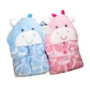 Deluxe hooded baby wrap, fleece blanket wrap