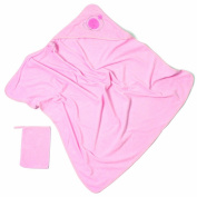 Baby Boum Pucci Hooded Bath Towel and Wash Mitt - Candyfloss Pink