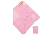 Baby Boum Pretty Petal Hooded Bath Towel and Wash Mitt